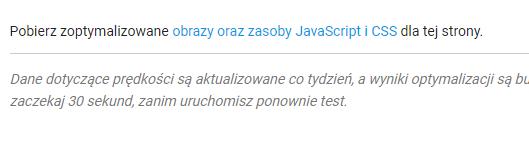 Pobieranie zoptymalizowanych zasobów CSS i JavaScript